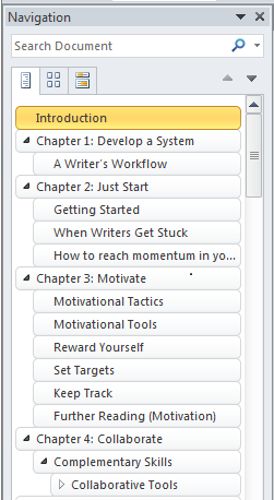Word's Navigation Pane