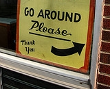 Go around please sign