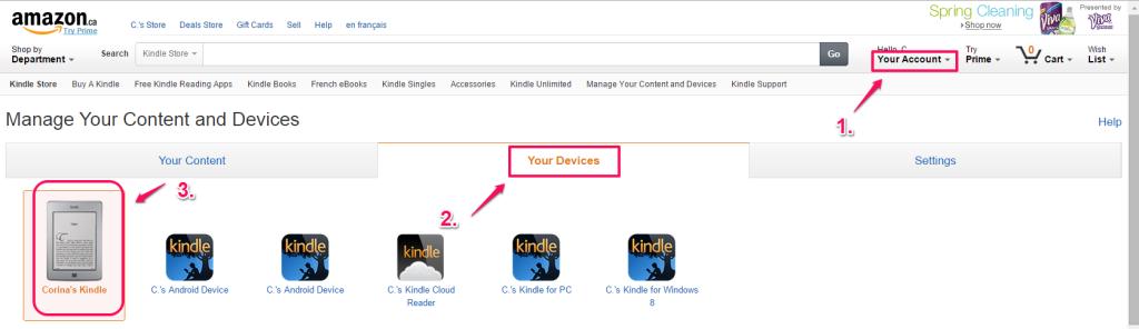 Amazon Your Devices