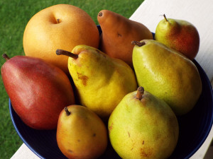 A variety of pears