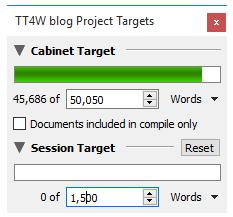 Scrivener Project Targets